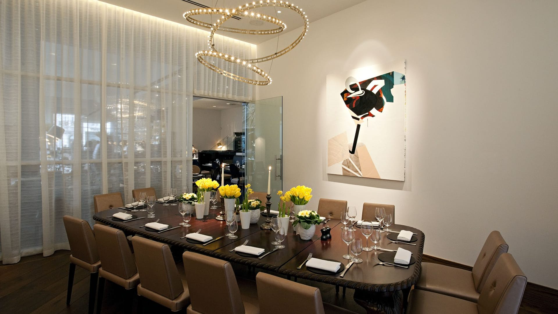 Private dining room events hire avenue for Q dining room london