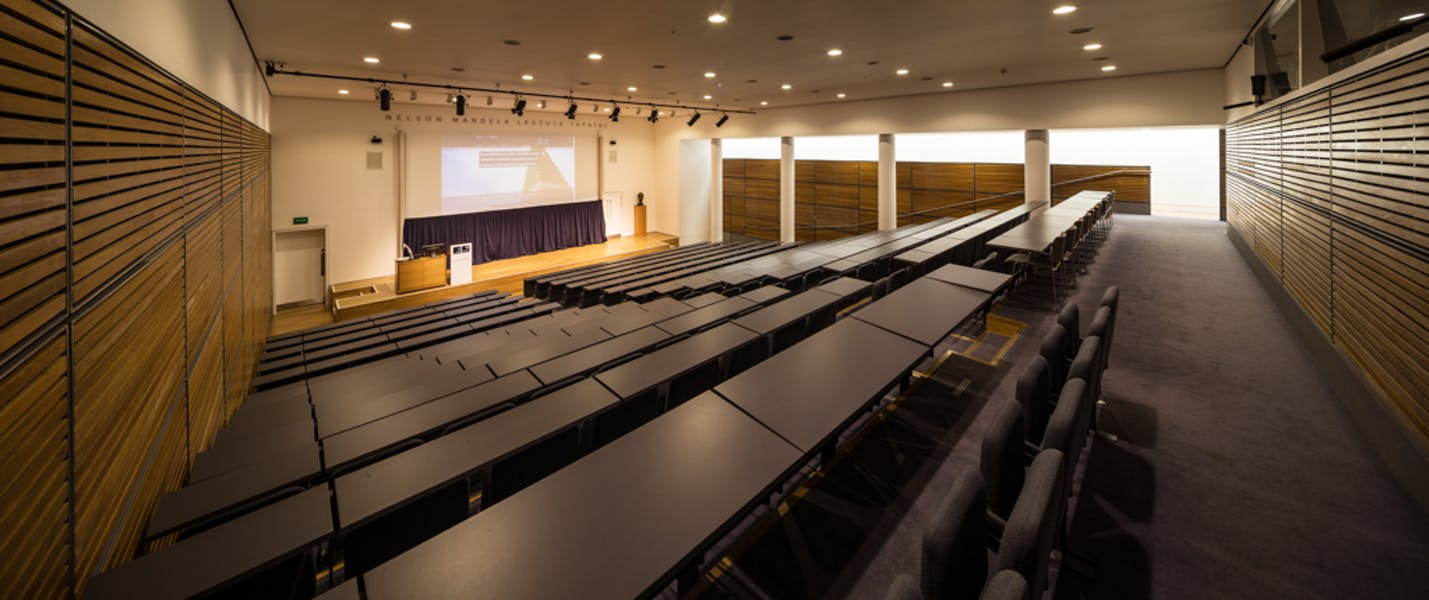 Photo of Nelson Mandela Lecture Theatre at Park End Street Venue, Saïd Business School, University of Oxford