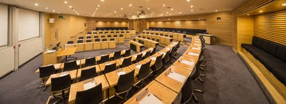 Photo of Rhodes Trust Lecture Theatre at Park End Street Venue, Saïd Business School, University of Oxford