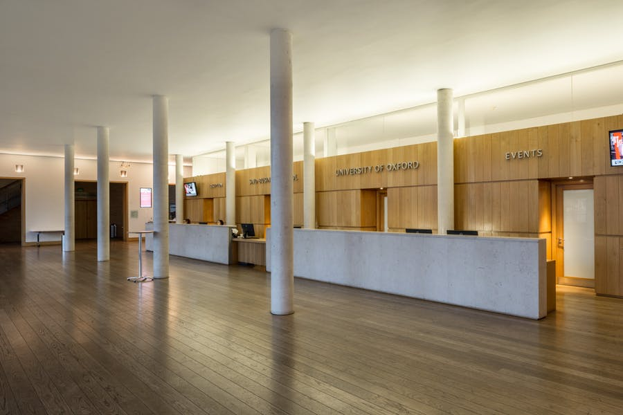 Photo of Entrance Hall at Park End Street Venue, Saïd Business School, University of Oxford