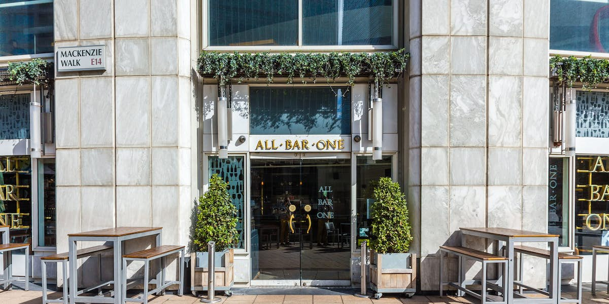 Hire All Bar One Canary Wharf