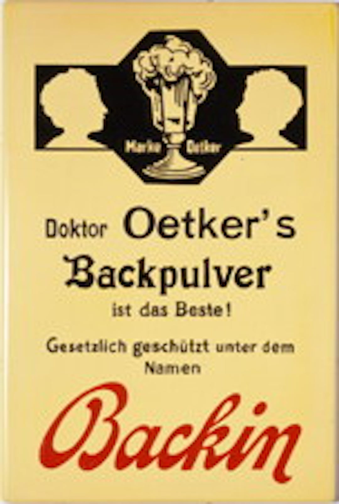 Dr. Oetker's recipe pamphlet