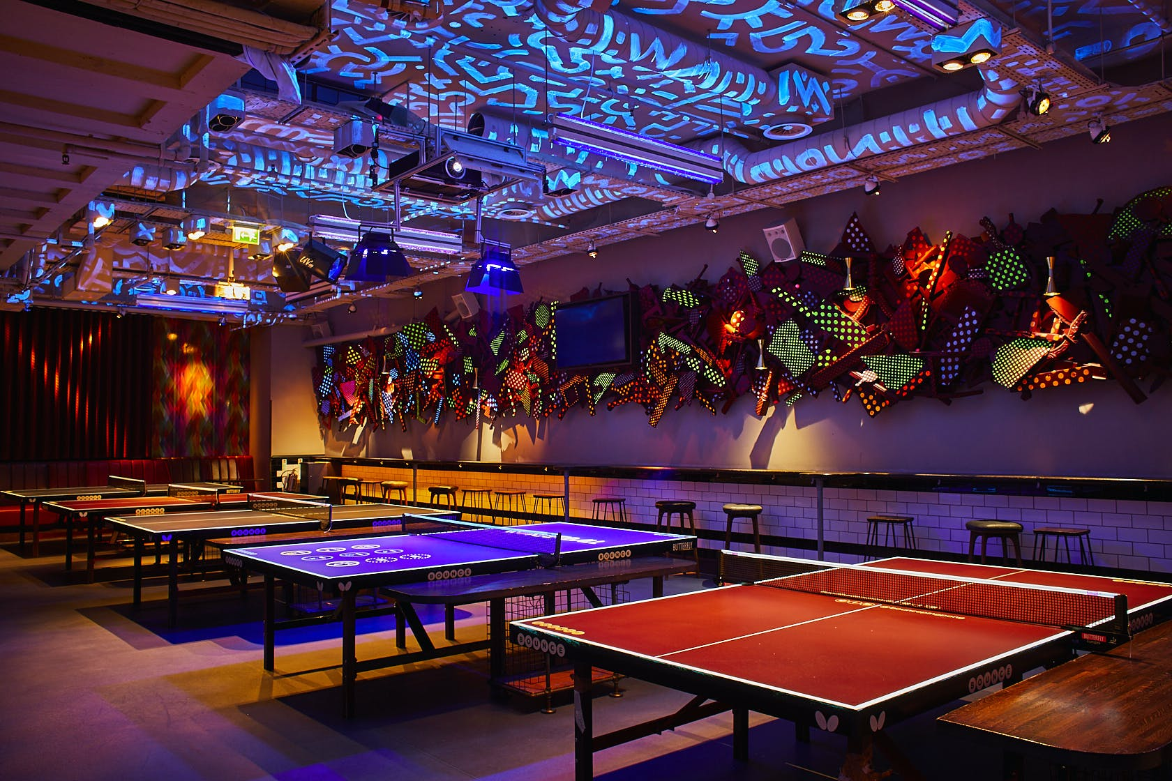 Bounce ping pong tables