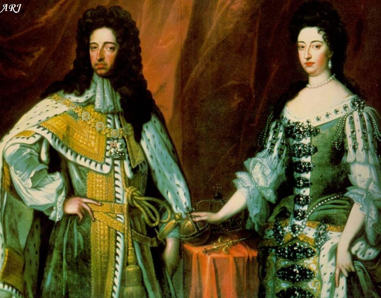 Queen William III and Mary II