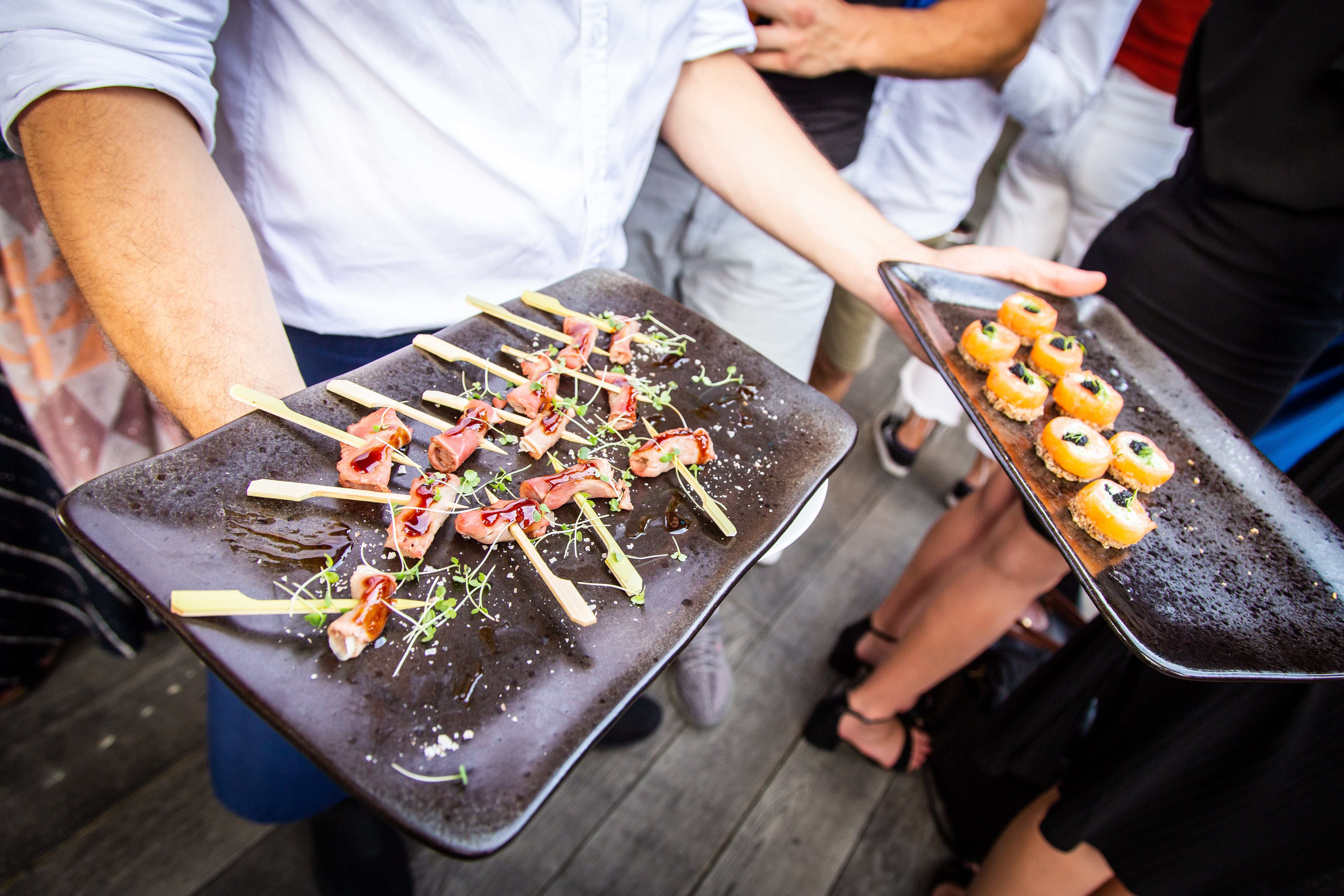 Canapés at Hire Space Summer Party