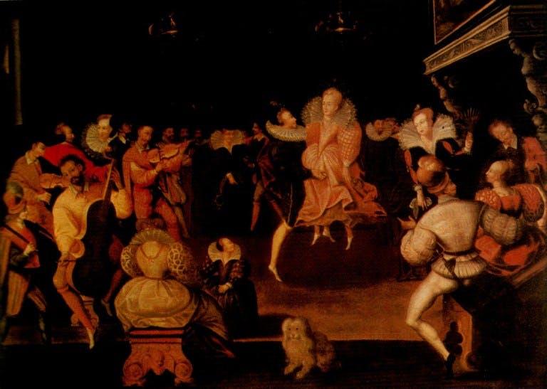 Queen Elizabeth I Dancing with Robert Dudley, Earl of Leicester