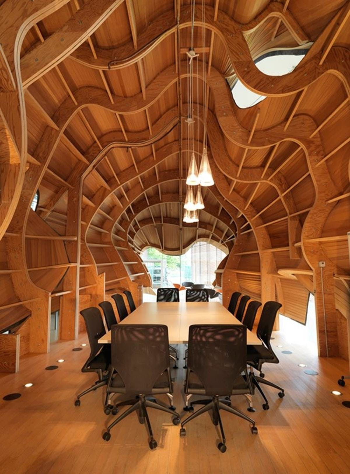 This wood enclosure
