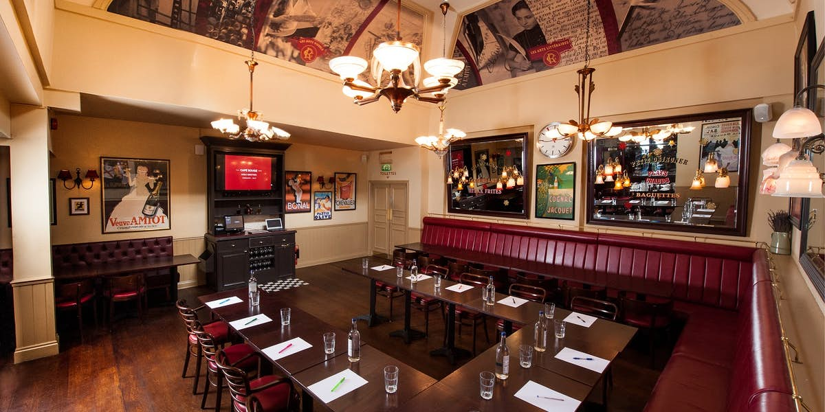 Hire cafe rouge edinburgh for Best private dining rooms edinburgh
