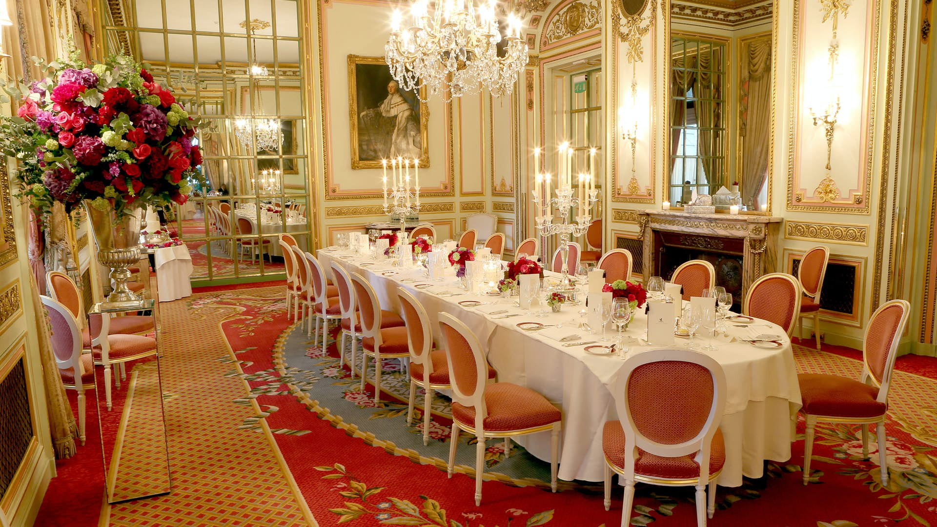 Christmas At The Ritz London.The Marie Antoinette Suite Dining The Ritz London
