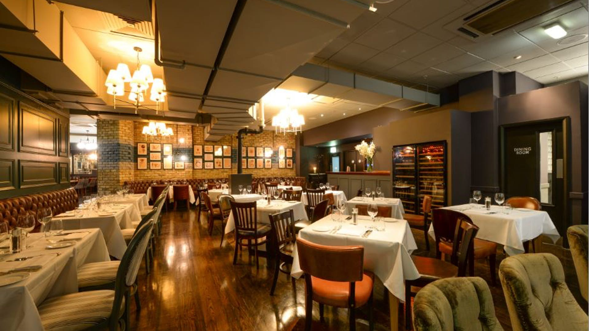 The cuvee louise pommery room balls brothers for Q dining room london