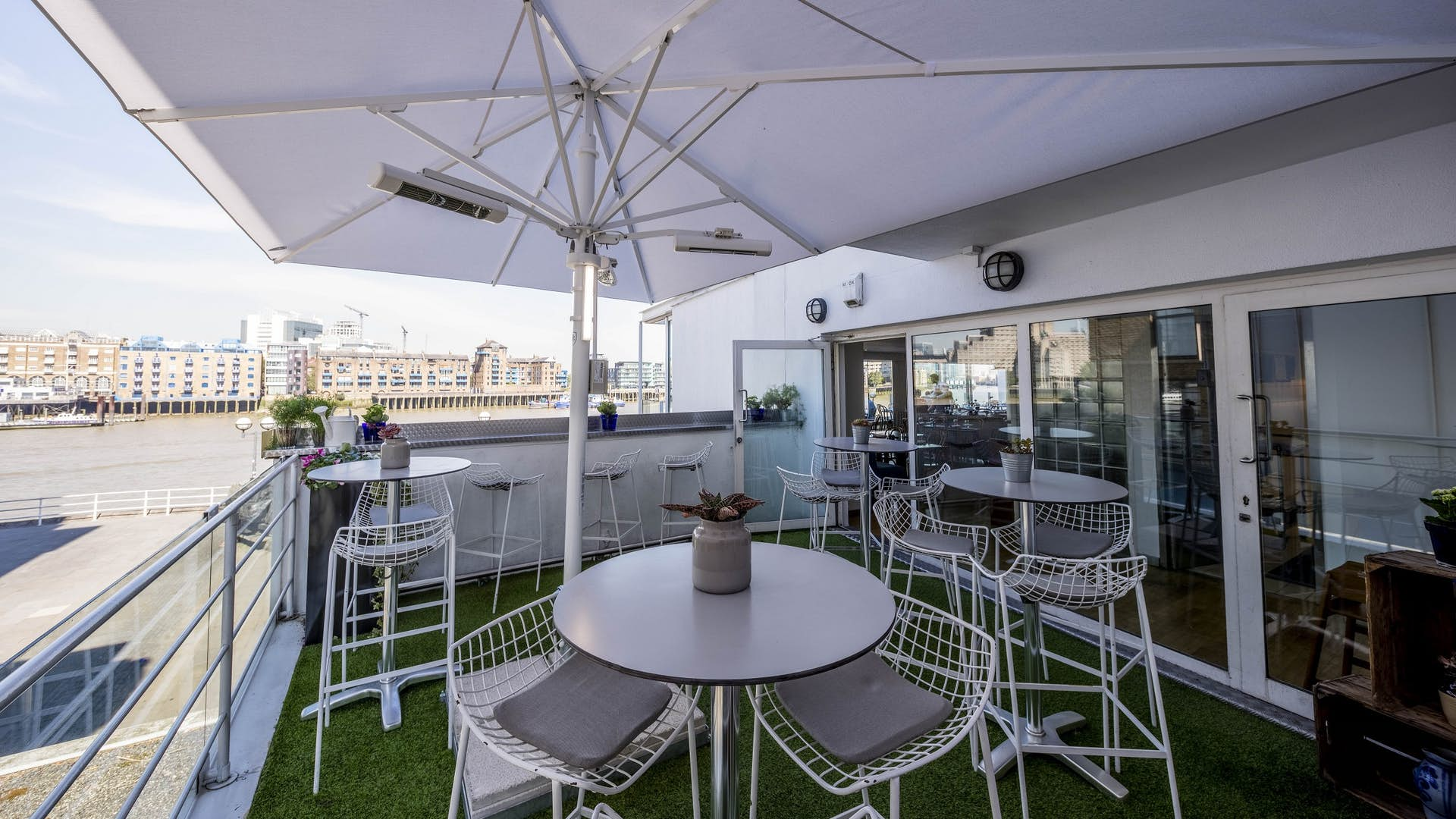 Summer terrace events hire blueprint cafe hire space venue hire roof terrace at blueprint cafe malvernweather