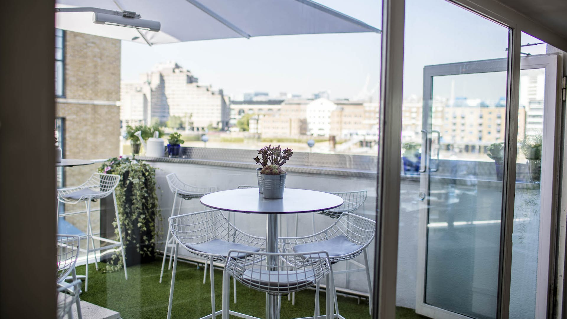 Summer terrace events hire blueprint cafe hire space venue hire roof terrace at blueprint cafe malvernweather Image collections
