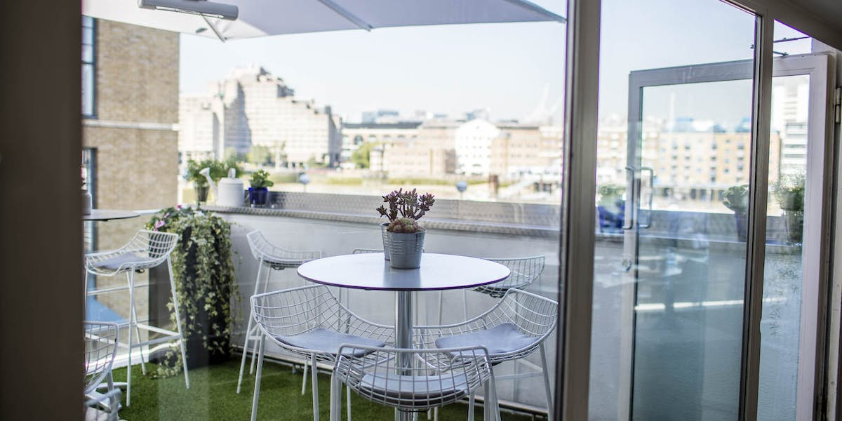 Hire blueprint cafe photo of roof terrace at blueprint cafe malvernweather Image collections