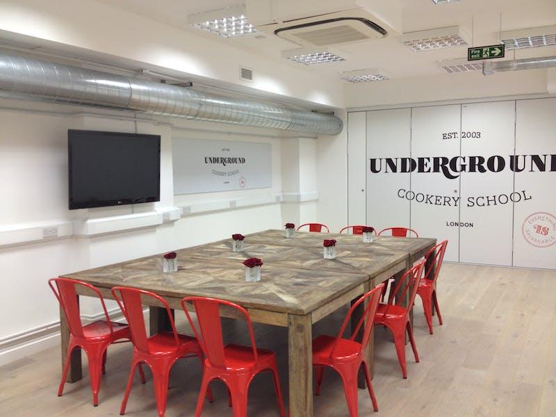 Photo of Kitchen 1 at Underground Cookery School