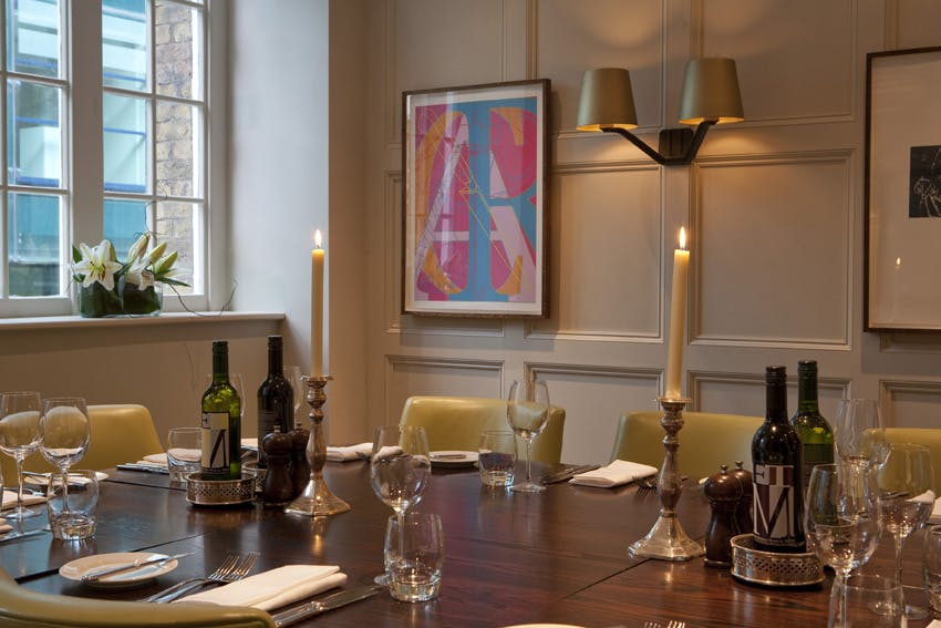 ... Photo Of Grubb Street Private Room At Chiswell Street Dining Rooms ... Part 76