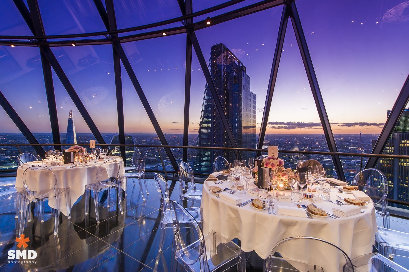 button at Searcys at The Gherkin