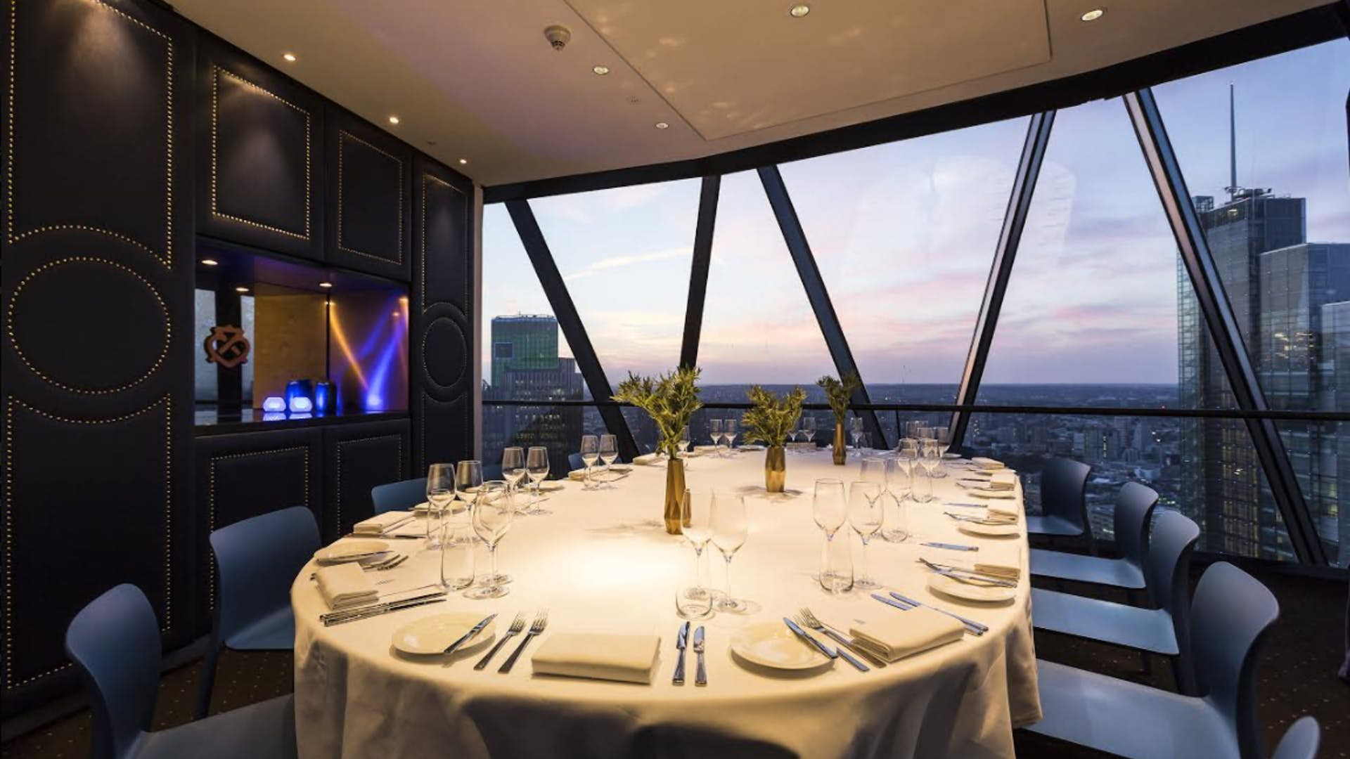 Chivas dining room dining searcys the gherkin for Q dining room london