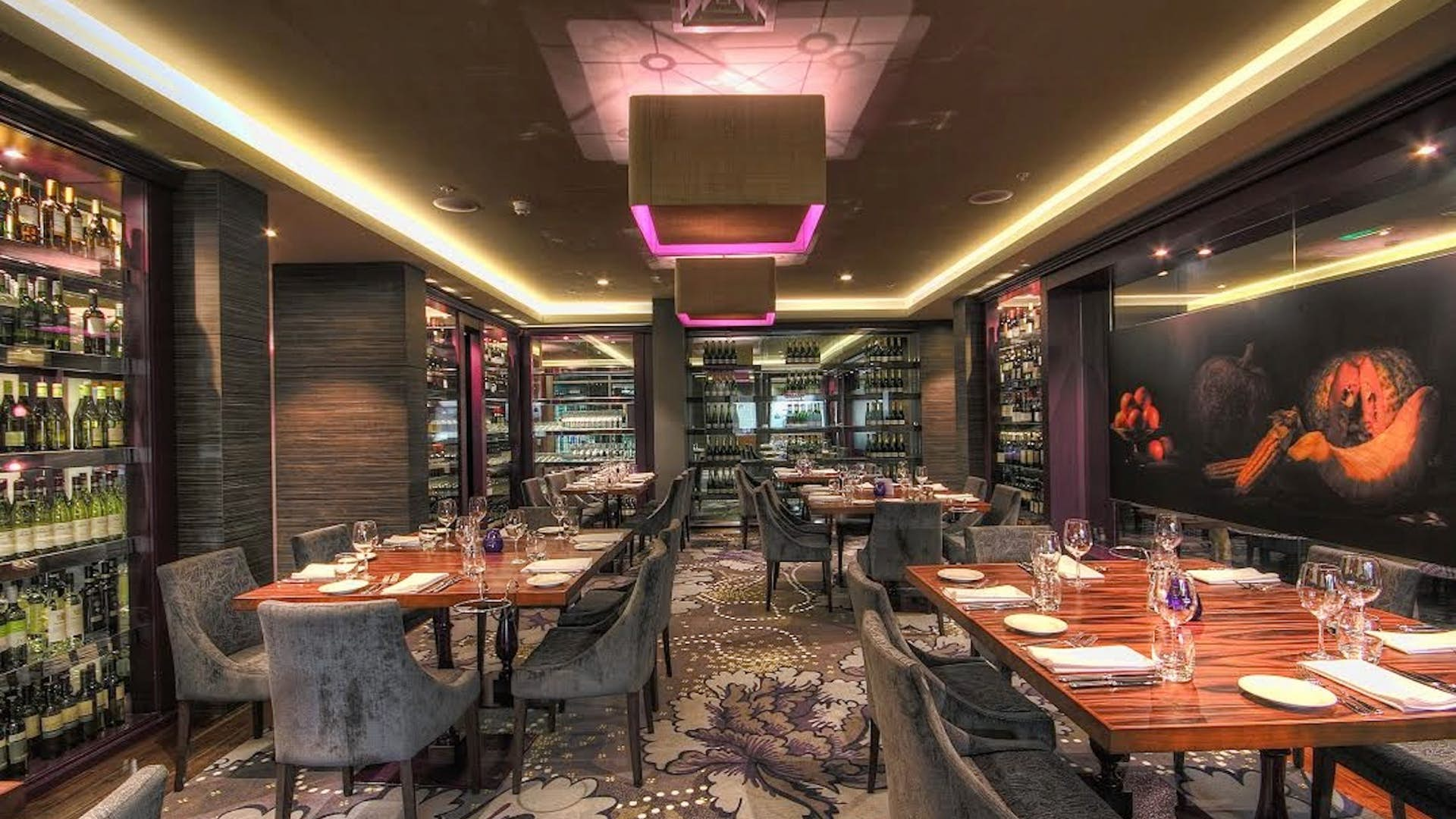 Semi private dining room business damson restaurant for Best private dining rooms manchester