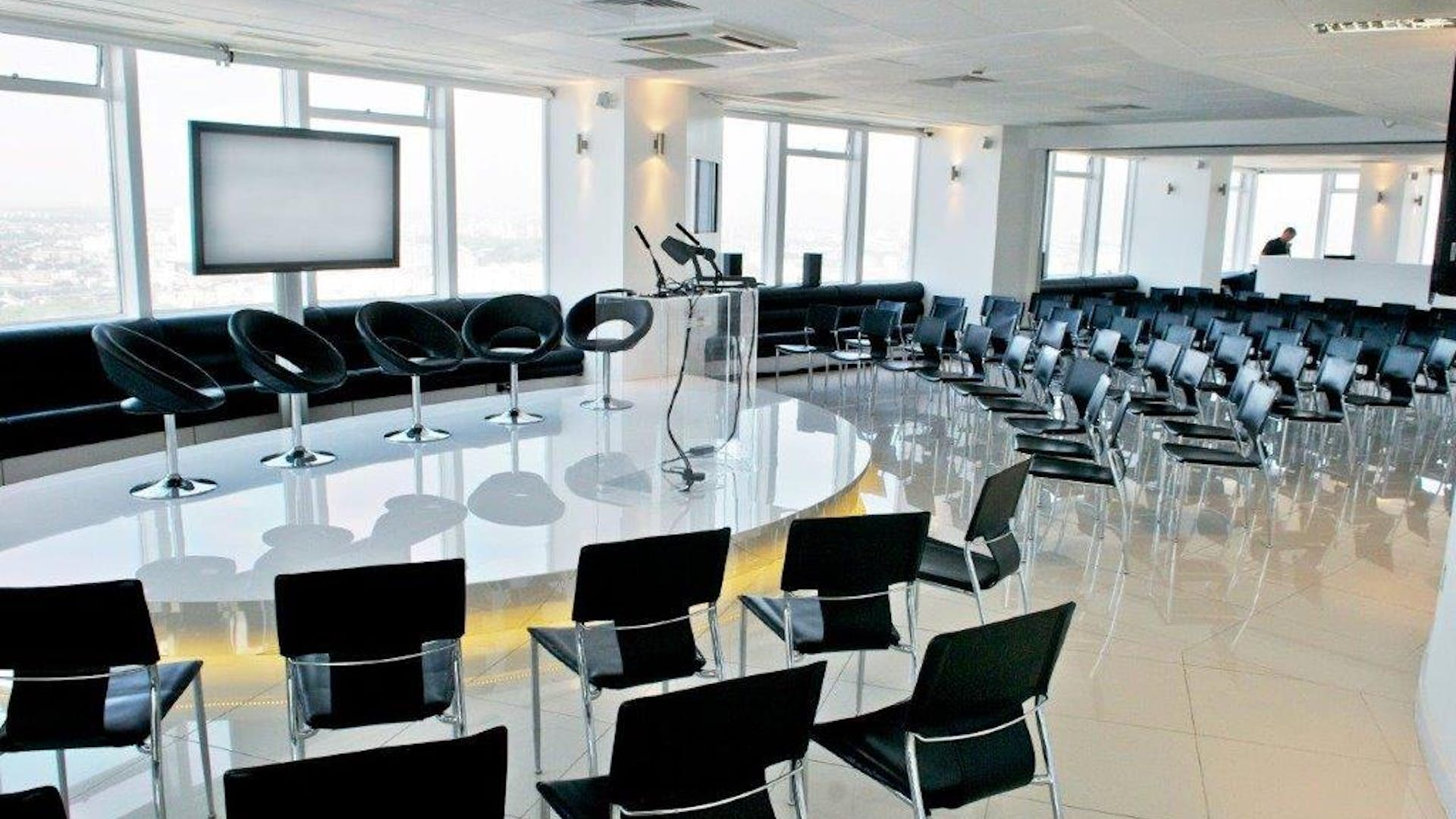 Panel set-up at Altitude London
