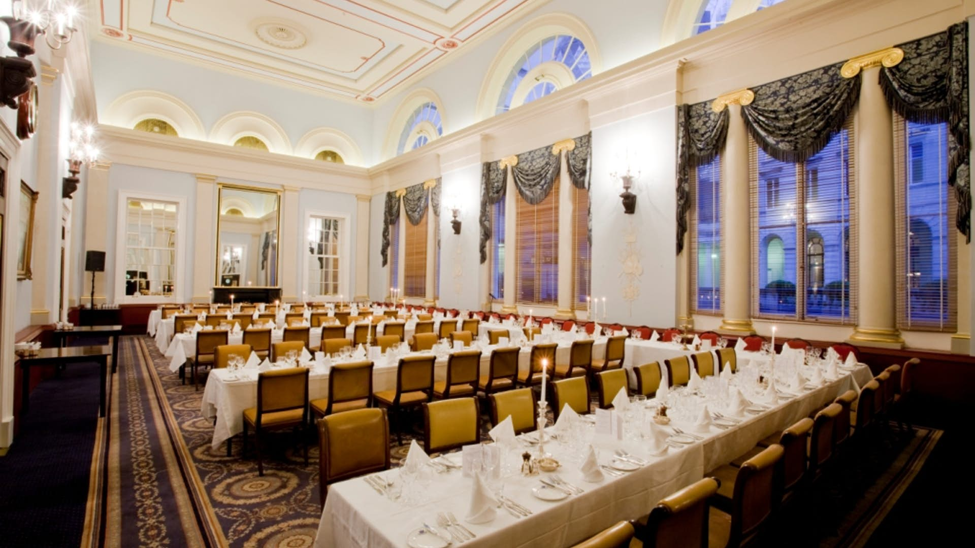 Main dining room events hire city of london club for Q dining room london