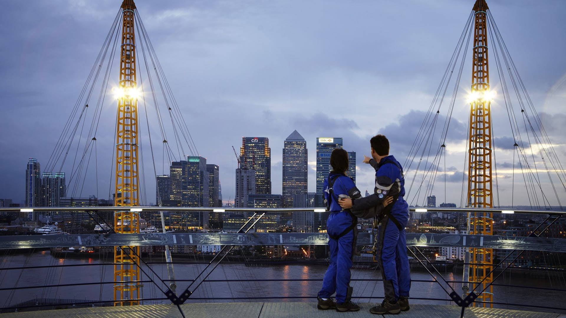 The Roof Of The O2 Film And Photo Hire Up At The O2